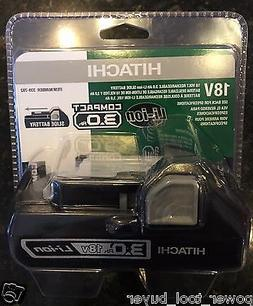 Hitachi 339782 18V 3.0 Ah Compact Lithium-Ion Slide Battery