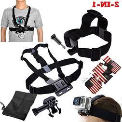 Dazzne 2 IN 1 Head Strap Mount + Chest Harness for GoPro HD