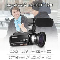 1080P FHD Digital Video Camera Camcorder Recorder IR Night V