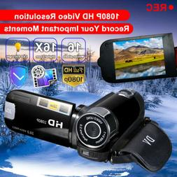 Camcorder Digital Video Camera 1080P 16x Zoom DV AV  Camera