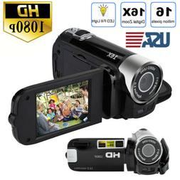 US 1080P HD Video Camera Camcorder Vlogging Digital Camera T