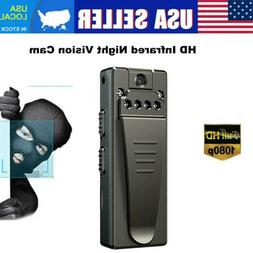 1080P Mini Night Camera Hidden Spy Portable Police Body Vide