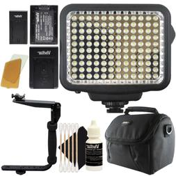 Vivitar 120 LED Light Panel with Accessory Kit for Cameras a