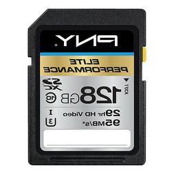 128GB PNY Elite Performance SDXC UHS-I Class 10 95MB/sec Mem