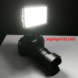 160LED Studio Video Light For Canon Nikon Camera DV Camcorde
