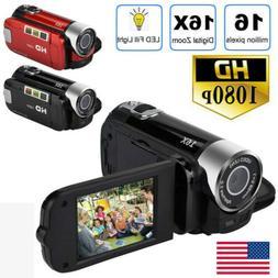 1x 24MP 1080P HD Camcorder Digital Video 16x Zoom DV AV Nigh