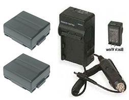 2, Hitachi DZ-BP07, Hitachi DZ-BP07PW Batteries + Charger fo