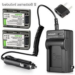 2Pcs Battery+Charger for Sony DVD HandyCam DCR-DVD105, DCR-D