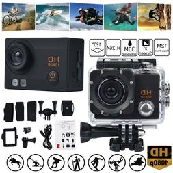"2"" TFT Waterproof Camera HD 1080P Sports Action Camera DVR &"