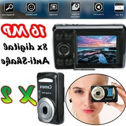 2Pcs 16MP 8X Digital Camera HD 1280P Video Camcorder 2.4''