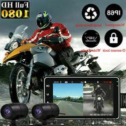 3 1080p hd dual camera motorcycle dvr
