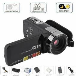 "3"" FHD 1080P 24MP 16X Digital Video Camera Camcorder Night V"