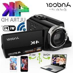 """Andoer 3 """" HDV-534K 4K 48MP WiFi Digital Video Camera 1080P"""