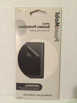PointMobl 3-Pack Universal Screen Protectors 160241 Fits Up