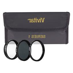 Vivitar 3-Piece Multi-Coated HD Filter Set 40.5mm UV/CPL/ND8