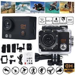 30M Waterproof Camera HD 1080P Sport Action Camera DVR Cam D