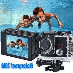 30M Waterproof HD 1080P Mini Sport Action Camera DVR Cam DV