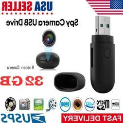 32GB Hidden USB Flash Camera Drive Motion HD Mini Video Reco