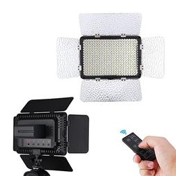 Powerextra 330 Beads 25W LED Video Light Panel Dimmable Came