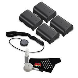 4 Batteries for Panasonic DMW-BLF19 + Accessories Kit