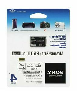 Sony 4 GB Memory Stick ProDuo MSMT4G/TQ1 Black Mark 2 For PS