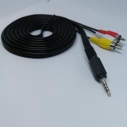 Tianxiaying 3.5mm 4 Pole Jack Plug to 3 x RCA Phono Lead Com