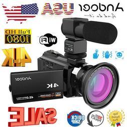 "Andoer 4K 1080P 48MP 16X 3"" WiFi Digital Video Camera Camcor"