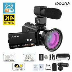 Andoer 4K 1080P 48MP WiFi Digital Video Camera Camcorder 16X