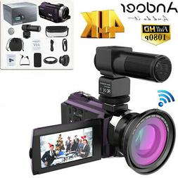 WiFi 4K ULTRA HD 48MP 1080P Digital Video Camera Recorder Ca