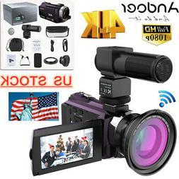 "Andoer 3"" 4K 1080P 16X 48MP WiFi Digital Video Camera Camcor"
