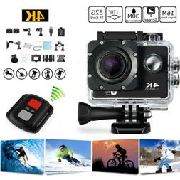 4K 16MP 1080P WIFI Waterproof Sports Action Camera DVR Recor