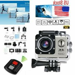 4K 16MP FHD 1080P WIFI Waterproof Sports Action Camera DVR R