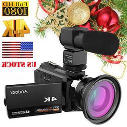 ANDOER 4K 48MP WIFI 16X ZOOM NIGHT SIGHT DIGITAL VIDEO CAMER