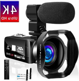 4K Camcorder Video Camera Vlogging YouTube 30MP Touch Screen