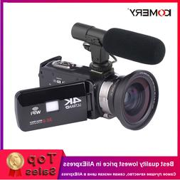 KOMERY 4K <font><b>Camcorder</b></font> Video Camera Wifi <f