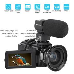 4k hd digital camcorder 16x zoom wifi