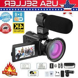 US Andoer 4K 48MP WiFi Digital Video Camera 16X Zoom IR Nigh