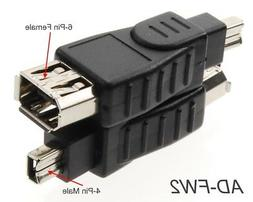 6-Pin Female to 4-Pin Male IEEE-1394a Firewire Adapter, Cabl