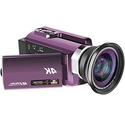 Video Camera 48MP WiFi 4K Camcorder Ultra HD Digital Camera