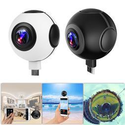 720° 1080P HD VR Panoramic Camera Dual Fisheye Lens Plug an
