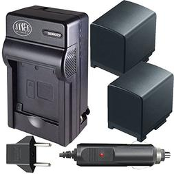 BM Premium 2 BP-820 Batteries and Charger for Canon VIXIA GX