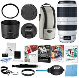 Canon EF 100-400mm f/4.5-5.6L IS USM II Lens w/UV Filter & S