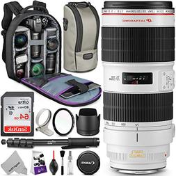 Canon EF 70-200mm f/2.8L is II USM Telephoto Zoom Lens w/Adv