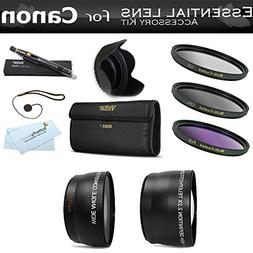 Deluxe All In Lens Kit For CANON VIXIA HF R82, HF R80, HF R8