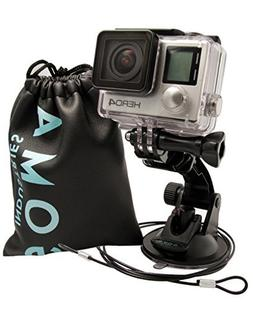 GOMA Industries Suction Cup Car Mount for GoPro Hero7 Hero6
