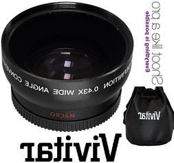 Hi-Def Wide Angle Lens With Macro For Canon Vixia HF R72 R70