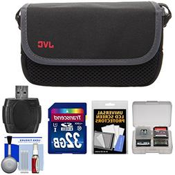 JVC CBV2013 Everio Video Camera Camcorder Case with 32GB Car