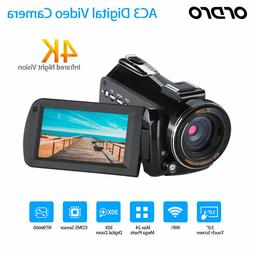 ORDRO AC3 Digital 4K Camera WiFi Professional Infrared Video