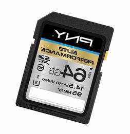 PNY Elite Performance 64GB Flash Memory High Speed SDXC Clas