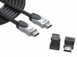 Pwr+ 50 Ft 4K HDMI 2.0 Braided High-Speed Ultra Full HD 2160